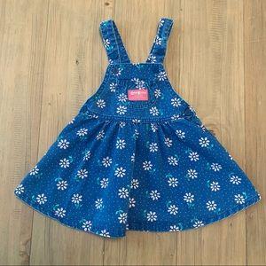 OshKosh | Vintage Chambray Floral Overall Dress